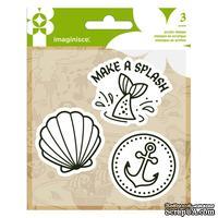 Набор штампов от  Imaginisce - Mermaid, размеры упаковки 9,5 х 13,3 см