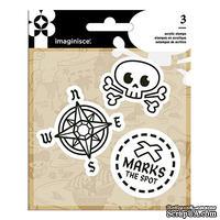 Набор штампов от  Imaginisce - Pirate, пираты, размеры упаковки 9,5 х 13,3 см