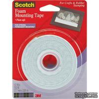 Скотч двухсторонний объемный на пенной основе - Scotch Foam Mounting Tape, 12,7мм х 3,81 метров