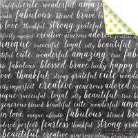 Лист бумаги для скрапбукинга от Lemon Owl - Plans for Today, Meditate, 30x30 - ScrapUA.com