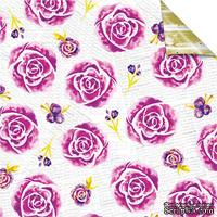 Лист бумаги для скрапбукинга от Lemon Owl - Plans for Today, Flower Garden, 30x30