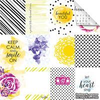 Лист бумаги для скрапбукинга от Lemon Owl - Plans for Today, Mini cards, 30x30