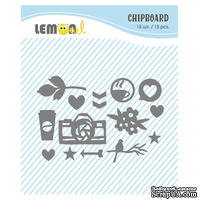 Набор чипборда от Lemon Owl - Plans for Today, Chipboard kit #01
