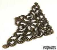Уголок декоративный, цвет старая латунь, 56х56 мм