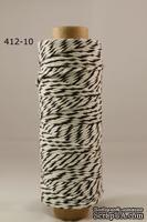 Хлопковый шнур от Baker's Twine - Black, 2 мм, цвет черный/белый, 1 м