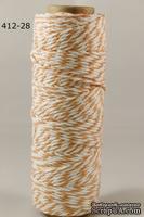 Хлопковый шнур от Baker's Twine - Orange, 2 мм, цвет оранжевый/белый, 1 м