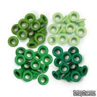 Люверсы - WeRM - Aluminum Green, 60 штук, 4 оттенка