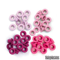 Люверсы - WeRM - Aluminum Pink, 60 штук, 4 оттенка - ScrapUA.com