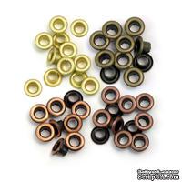 Люверсы - WeRM - Copper Warm Metal, 60 штук, 4 оттенка