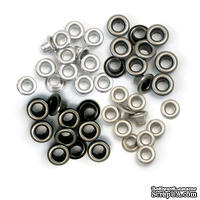 Люверсы - WeRM - Copper Cool Metal, 60 штук, 4 оттенка
