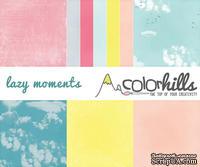 Набор бумаги, фишек и штампов от Color Hills - Коллекция Lazy moments, 16 элементов
