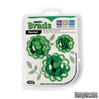 Брадсы от We R Memory Keepers - Basic Brads Painted - Green