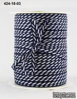 Лента от May Arts - Navy, цвет темно-синий, ширина 3мм, длина 90 см