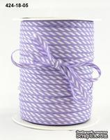 Лента Solid/Diagonal Stripes, цвет фиолетовый/белый, ширина 3 мм, длина 90 см