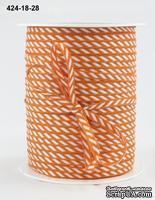 Лента Solid/Diagonal Stripes, цвет красный/белый, ширина 3 мм, длина 90 см