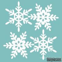 Чипборд от Вензелик - Набор снежинок 04, размер: 100x100 мм