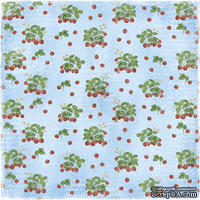 Двусторонний лист бумаги для скрапбукинга от Maja Design - Life in the Country - Grow Strawberries, 30x30 см