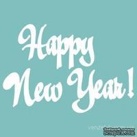 "Чипборд от Вензелик - Надпись ""Happy new year"", размер: 28x127 мм"