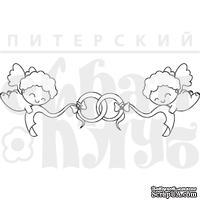 Акриловый штамп ''Купидоны с кольцами''