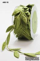 Лента Jumbo Leaves - Olive, цвет оливковый, 90 см (дина листика 35мм)
