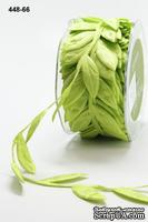Лента Jumbo Leaves Parrot Green, дина листика 35мм,цвет салатовый, 90 см