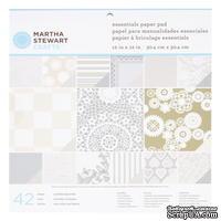 """Набор бумаги от Martha Stewart  - Paper Pad 12""""x 12"""" Kraft Doily Lace  - Кружево, 30х30"""