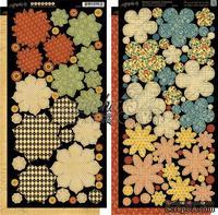 Высечки - Бумажные цветы Graphic 45 - French Country - Flowers, размер 15х30 см