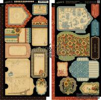 Высечки Graphic 45 - French Country - Tags & Pockets, размер 30х30 см