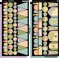 Высечки Graphic 45 - Secret Garden - Banners, размер 15х30 см