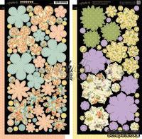 Бумажные цветы Graphic 45 - Secret Garden - Flowers, размер 15х30 см