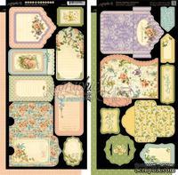 Высечки Graphic 45 - Secret Garden - Tags & Pockets, размер 15х30 см