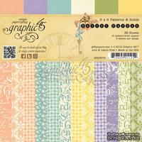 Набор скрапбумаги Graphic 45 - Secret Garden - Patterns & Solids Pad, размер 15х15 см, 12 листов