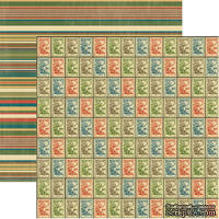 Лист скрапбумаги Graphic 45 Victory, 30х30 см, двусторонняя