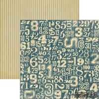Лист скрапбумаги Graphic 45 Teamwork, 30х30 см, двусторонняя