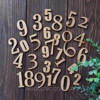 Набор цифр от WOODchic, 3см. мдф 3мм