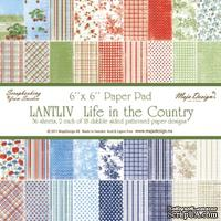 Набор бумаги для скрапбукинга от Maja Design - Life in the Country PAPER PAD, 15х15 см, 36 листов