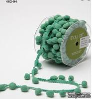 Лента Pom Pom String, ширина 1,2 см, 90 см,цвет бирюзовый