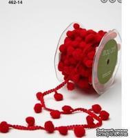 Лента Pom Pom String, ширина 1,2 см, 90 см, цвет красный