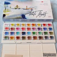 Набор акварельных красок в кюветах - Белые ночи, 36 цветов