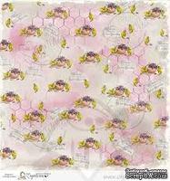 Лист бумаги для скрапбукинга от Magnolia - BLESS/ROSE
