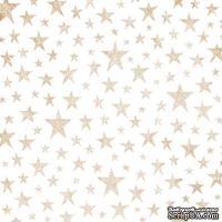 Лист веллума в золотые звезды от Pink Paislee - Sweet Freedom Foiled Vellum - Copper Stars, 30х30 см