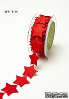 Лента - Star Banner Red - красная, ширина - 38 мм, длина 90 см
