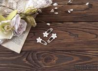 Чипборд от WOODchic - Набор булавок с цветочками
