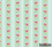 Ткань Tilda - Rose Stripe Bluegrass 100 % хлопок, 50х70 см