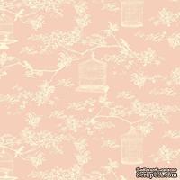 Ткань Tilda - Birdcage T C Pink 100 % хлопок, 50х55 см