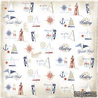 Двусторонний лист скрапбумаги от Maja Design - Life by the Sea - Marina