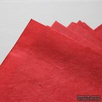 Тутовая бумага ручной работы, цвет красный, формат А4 - ScrapUA.com