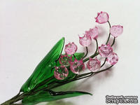 Веточка ландыша, цвет розовый, 17 см