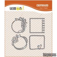 Набор чипборда от Lemon Owl - Weekend Trip, Chipboard kit #03, 4 элемента
