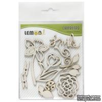 Набор чипборда от Lemon Owl - Weekend Trip, Chipboard kit #01, 12 элементов